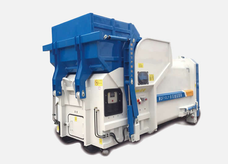 Integrated Mobile Trash Compaction Bin